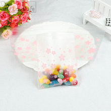 50Pcs Transparent Cherry Blossoms OPP Bag Candy Gift Bag Wedding Cookie Biscuits Cake Bag Christmas Decor 7cm/10cm(China)
