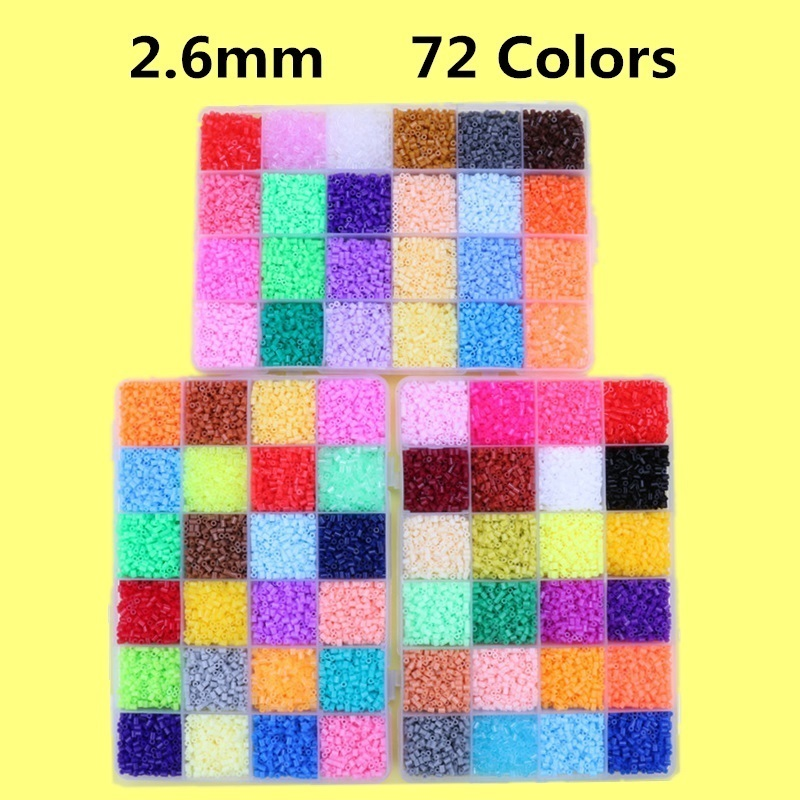 EVA 2.6mm Mini Hama Beads Set Toy DIY 3D Model Puzzle Kits Creative Educational Beads Toys For Children Gift