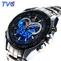Top Luxury Brand Tvg Watches Men Stainless Steel Analog Digital Quartz-Watch Men Waterproof Sports Militar Watch Reloj Hombre