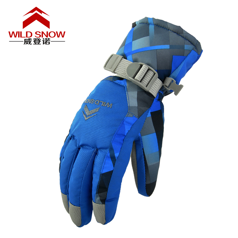 Professional Ski Gloves Men Women Waterproof Outdoor Snowmobile Guantes Warm Winter Skiing Snowboard Snow Gloves HXST34