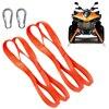 4pcs Orange Universal Soft Loop Motorcycle Tie Down Straps For Motocross Motorbike Dirt Bike Tie Downs