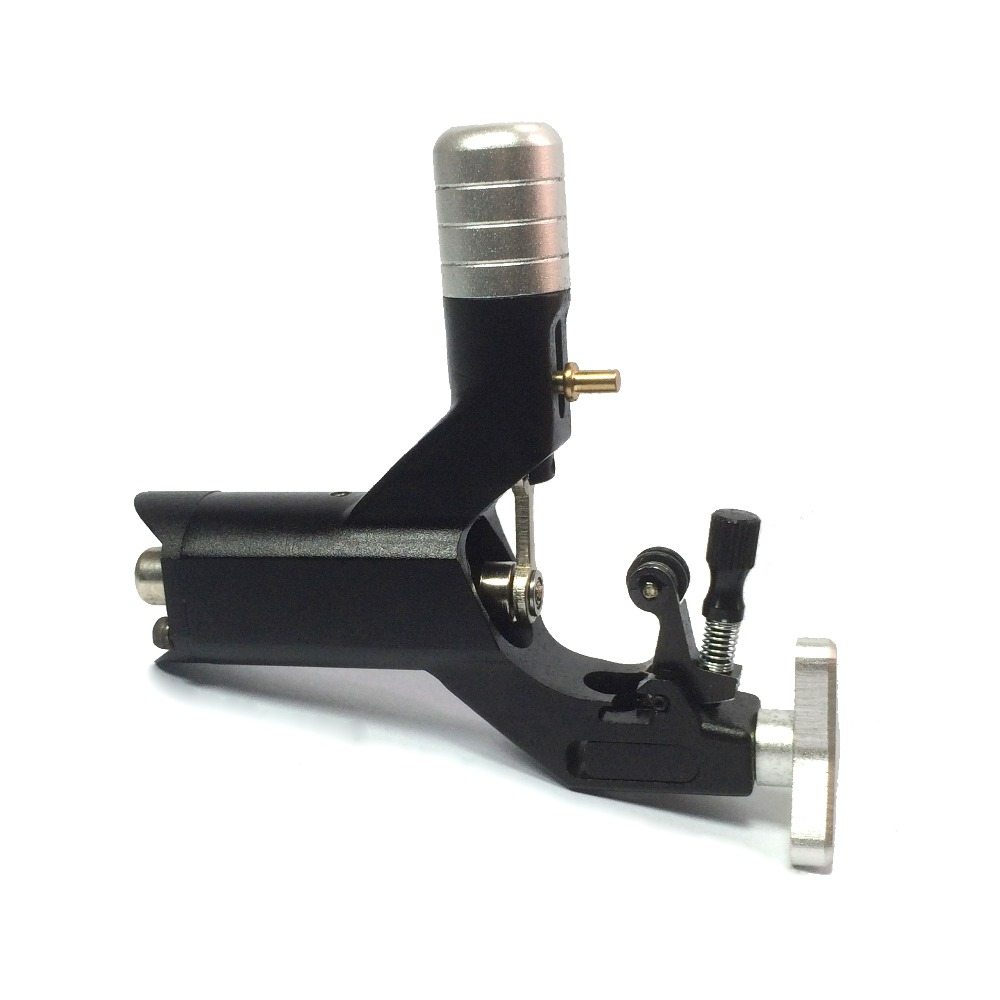 ФОТО BLACK Lightweight Alloy Rotary Motor Tattoo Machine Liner Shader Silent Smooth