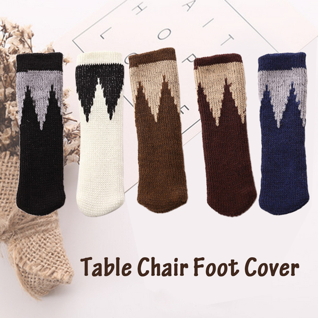4pcs Chair Leg Socks Home Furniture Floor Protectors Non Slip Table Legs Sleeve