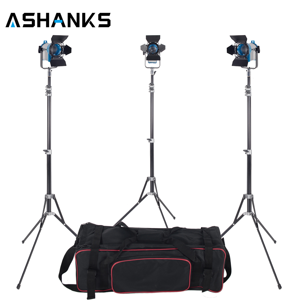 3 X 150W Studio fresnel tungsten light fixture with dimmer control Spotlight Video Light Kit Lighting with Carry Case and Stand ashanks 3 x 2000w fresnel tungsten spotlight camara fotografica video lighting for photography studio lighting bulb barndoor