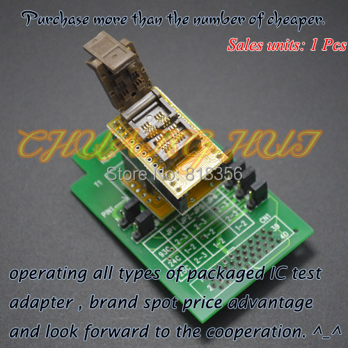 SOT23-3/SOT23-5/SOT23-6 test socket HEAD-SEEP-SOT23 Programmer Adapter for GANG-08 Programmer цена 2017