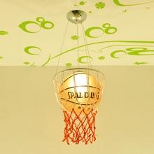 Modern Basketball Pendant Lamp Kid's Bedroom Lighting 90-260V Free shipping pendant light children children 90