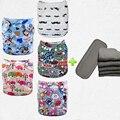 5 Camadas de fraldas + 5 pcs inserções De Carvão de Bambu fraldas para bebés roupas fraldas babyland fornecedores all in one size (5 conjuntos)
