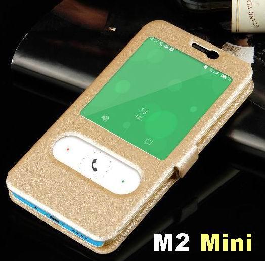 Meizu M2 Mini чехол Стекло Вид из окна крышки Магнитная бумажник флип чехол для Meizu M2 Mini Телефон сенсорный Обложка протектор чехол