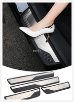 Car Accessories External Door Sill Protector Welcome Pedals Scuff Plate Guards Covers Trim 4Pcs For Honda