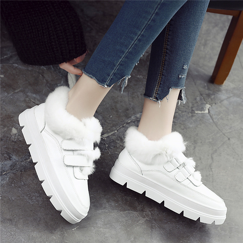 Boucle Chaussures Blanc Zapatillas forme Femmes Angora Hiver Et Fourrure Crochet Mujer Nouveau Casual La Avec Femme Sneakers De Plate Chaud Zq05nqwd