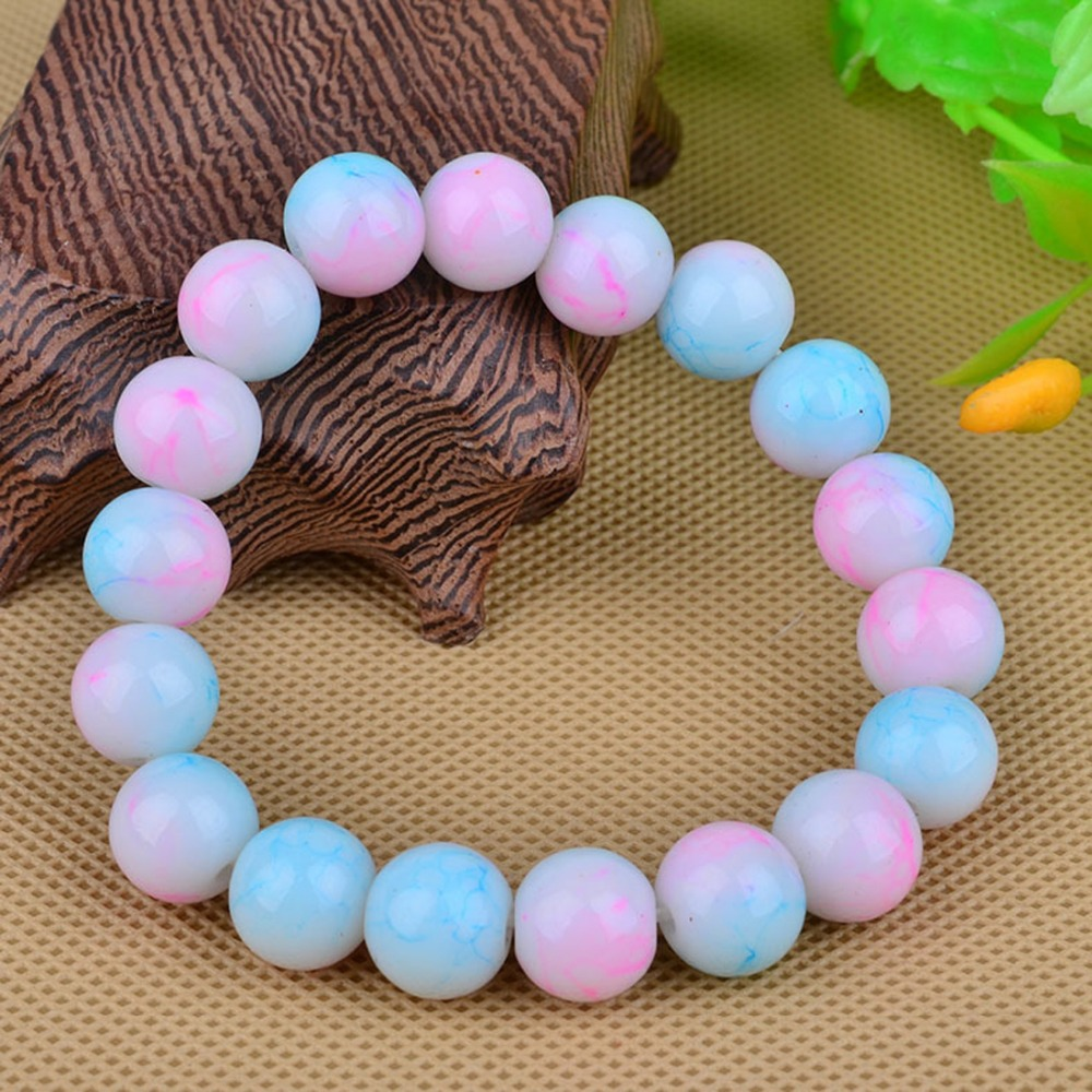LNRRABC Cheap AAA+ Quality 2015 Handmade Natural Stone Glass Beads Charm Bracelets for Fashion Jewelry Gifts Wholesale lif