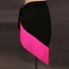 Sexy Latin Dance Skirt For Women 15 kind Colors Professional Sumba Tassel Dancing Adult  Rumba Dress Cheap