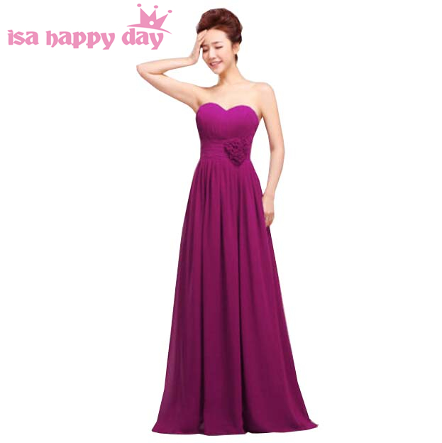 robe de soiree women cute lace up back dark purple   bridesmaid     dresses   gown strapless sleeveless brides made   dress   2019 H1182