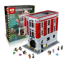 LEPIN Ghostbusters Firehouse Headquarters Building Kit 4695Pcs Bricks Blocks