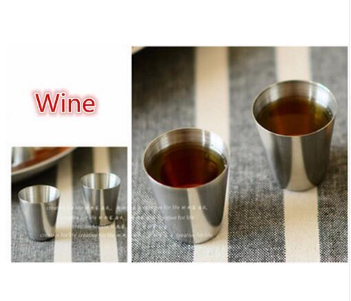 4pcs/set Polished Mini 30ml Stainless Steel Wine Drinking Shot Glasses Barware Cup Free Shipping