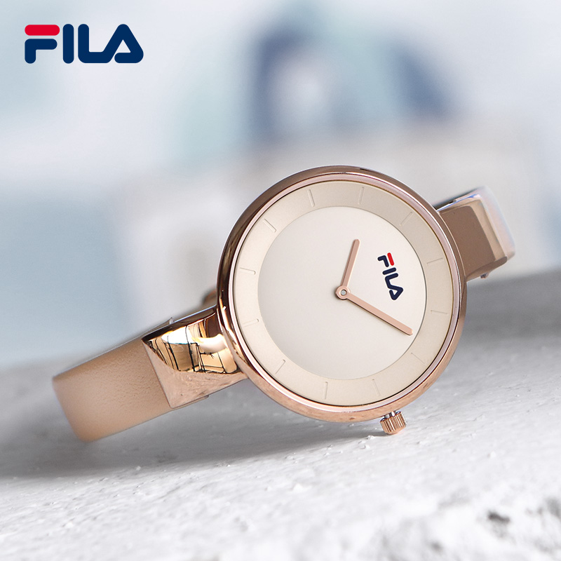 Fila 2017 Top Luxury Brand High Quality Fashion Casual Simple Style Leather Strap Quartz Wristwatch Waterproof Women Watch 38-78 high quality fashion dial genuine leather strap top sale quartz watch women and men dress wristwatch personality