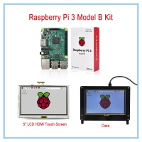 New Raspberry Pi 3 Kit 5 LCD HDMI USB Touch Screen Display TFT LCD Panel Module
