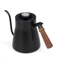 850ML Espresso Coffee Kettle Maker Moka Pot Stainless Steel Coffee Drip Gooseneck Kettle With Thermometer Milk Teapot Pot Tools