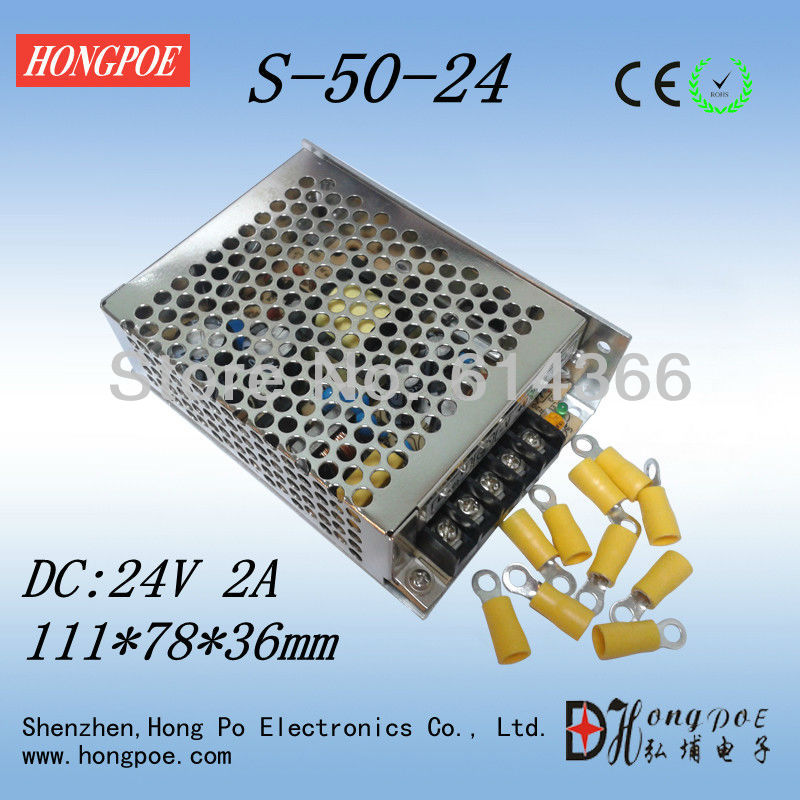 S-50-24 Power Supply 24V 2A CE ROHS certification LED drive MINI 111 * 78 * 36mm