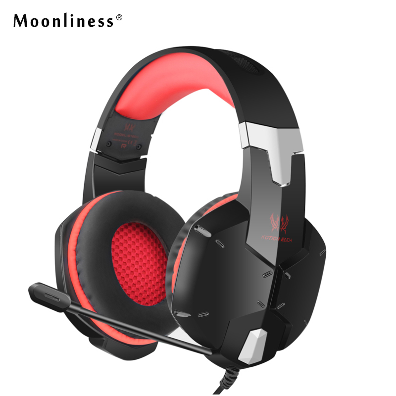 Moonliness NEW G1200 Gaming Headphone EACH 3.5mm Game Headset with Mic Plug Stereo Headphones Play Game   Enjoy Music for Girl rock y10 stereo headphone earphone microphone stereo bass wired headset for music computer game with mic