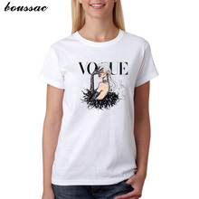 Plus Size S-XXL Harajuku Summer T Shirt Women New Arrivals Fashion VOGUE Printed T-shirt Woman Tee Tops Casual Female T-shirts