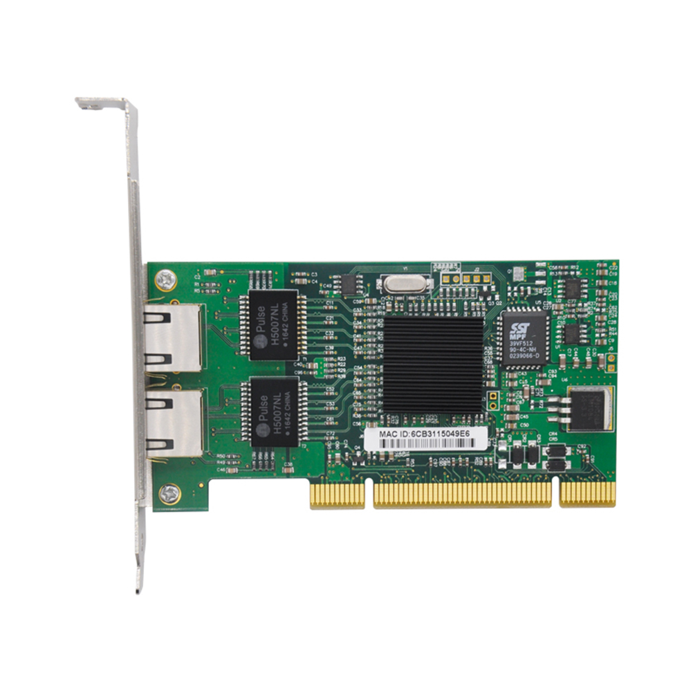 New Intel 82546 PRO/1000 MT Dual Port Server Adapter 8492MT 1000Mbps PCI Network Card Low Profile Driver CD