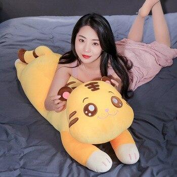 1pc 68/90/110cm Big Cute Tiger Plush Pillow Soft Stuffed Animal Toys for Children Cartoon Doll Cushion Birthday Gift Brinquedos huge 155cm lying white tiger plush toy prone tiger doll throw pillow birthday gift t8875