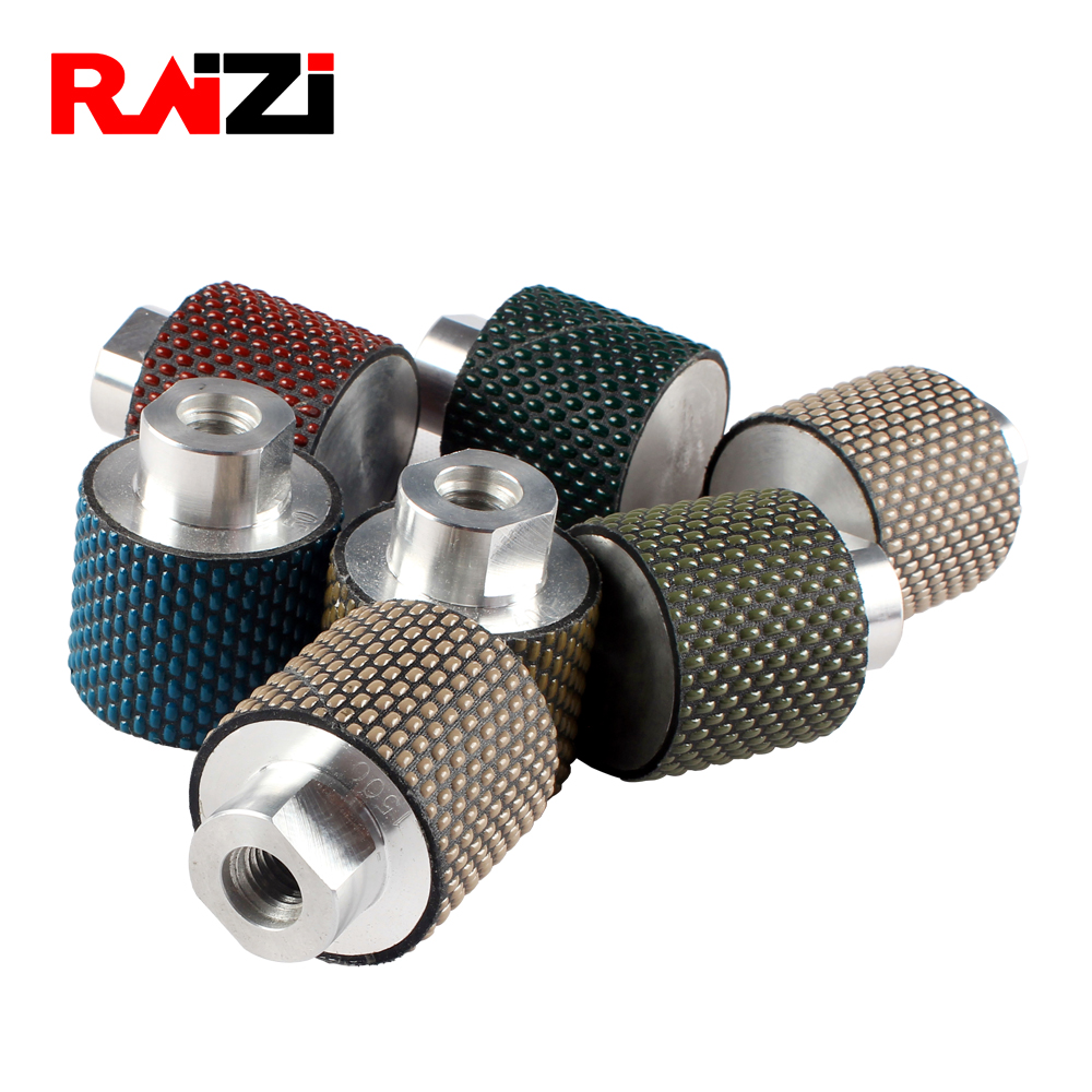 Raizi 2 Inch Diamond Dry Polishing Drum Wheel For Bowl Holes On Granite Marble Countertop 50 Mm Grit 50-3000 Angle Grinder Wheel