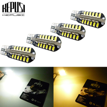 купить 4x T10 W5W Canbus LED light Car Instrument Panel lamp Wedge Bulb 194 168 Clearance light License Plate Bulb Parking light 1Pc дешево