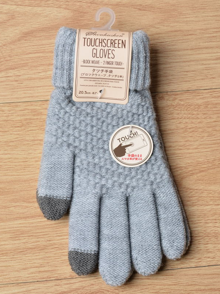 Winter Gloves Touch-Screen Cashmere Knitted Warm Women's Rimiut