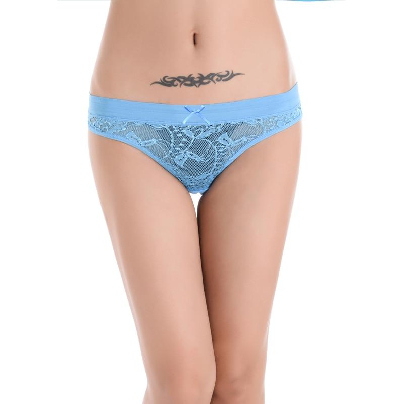 Vroče razprodaje Bragas seksi hlačke za ženske bombažne čipke-4205