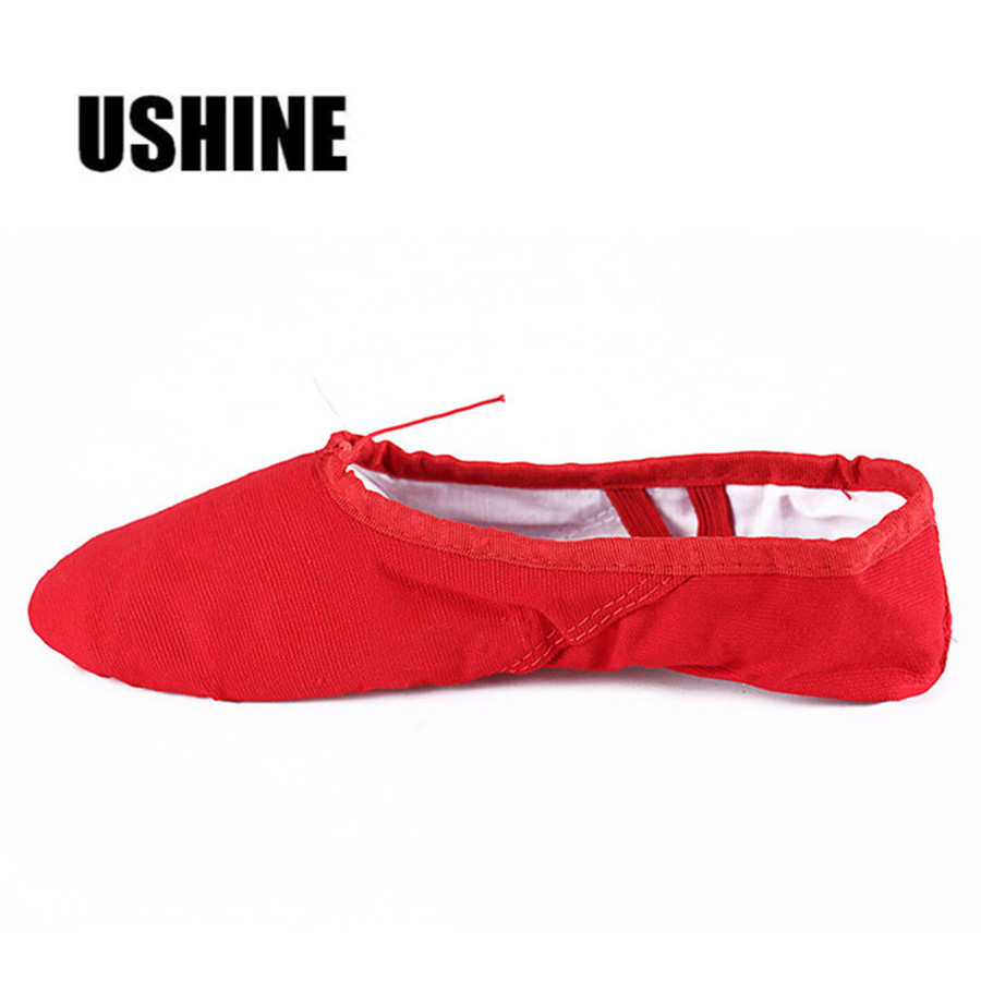 Canvas Black Red Pink Indoor Exercising Shoes Yoga Teacher Gym BD Ballet Dance Shoes For Kids Children Woman