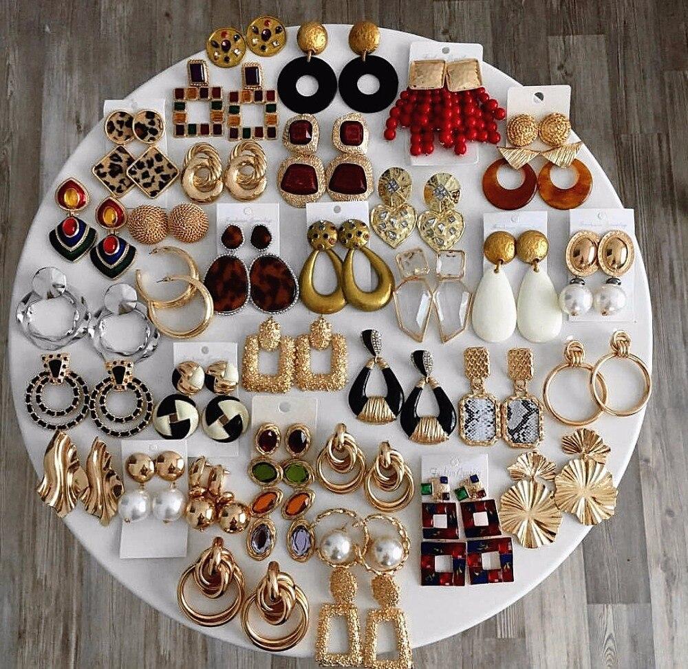 Dvacaman ZA Crystal Drop Earrings Long Beads Tassel Dangle Earrings Bohemian Statement Earrings Wedding Party Jewelry Wholesale
