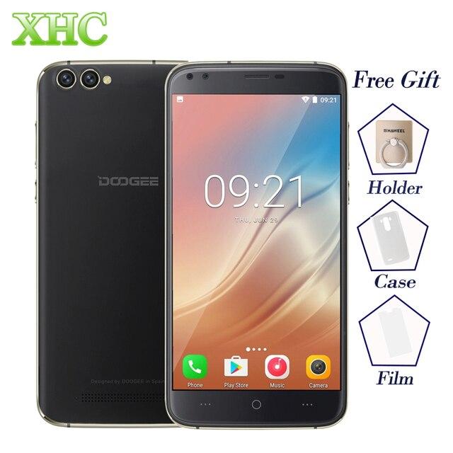 Doogee X30 Android 7.0 смартфон 5.5 ''4 камеры mtk6580a 4 ядра телефона 2 GB Оперативная память 16 Гб Встроенная память Dual SIM WCDMA оты мобильного телефона