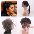 7A Grade 360 Ear To Ear Lace Bnad Frontal Closure With Baby Hair Straight Pruvian Virgin Human Hair 360 Lace Frontal Closure