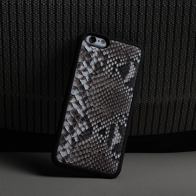 bilder für Premium leder handy-fällen python leder rückseitige abdeckung für iphone 6 6 S plus handy zubehör für iphone 7 plus