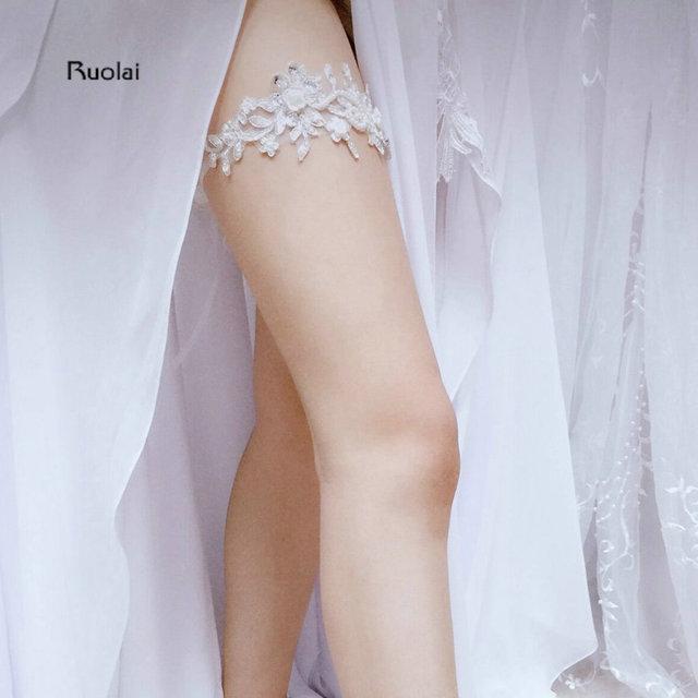 b86b3f60c24 In Stock Cheap Sexy Appliques Beading Wedding Leg Garter Belt Rustic Wedding  Garter Bridal Garter Wedding Accessory For Bridal