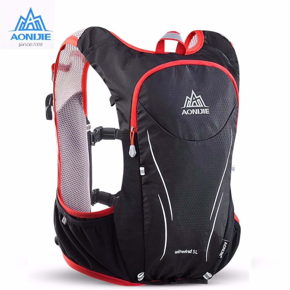 75da4e3c8d12 US $38.0 30% OFF|AONIJIE Outdoor Sports Trail Running Backpack 5L Marathon  Hydration Vest Pack For 1.5L Water Bag Super Light Cycling Hiking Bag-in ...