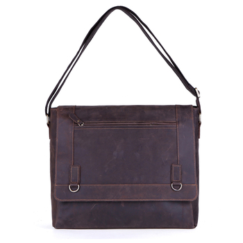 Genuine Leather Men Briefcase Crazy Horse Leather Handbags Office Bags for Mens Messenger Bag Men Laptop Bag Briefcases