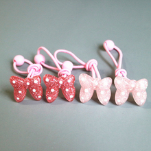 New 4 Pieces / Childrens Resin Hair Rope Cute Bow Rubber Band And Hairpin Set Girl  Girls Accessories