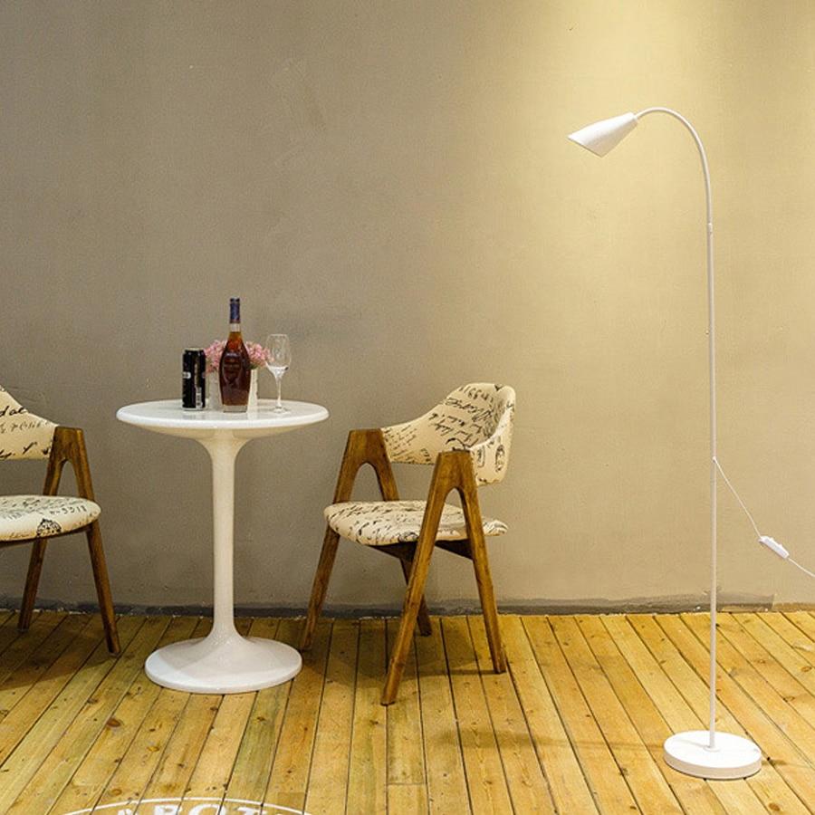 175CM Modern simple black and white LED floor lamp living ...