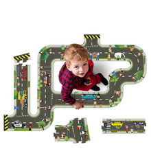 New Children's Educational Toys Large Track Floor Puzzle Three Boys and Children Interactive Gift Box Gift