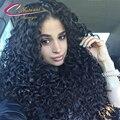 Сырье Индийского Реми Человека Вьющиеся Волосы Full Lace Парики Мокрый И волнистые Толщиной Плотность 180% Glueless Кружева Передние Парики Для Чернокожих Женщин