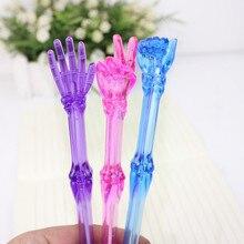 3 pcs/lot Creative Finger Bones Ballpoint Pen Kawaii Transparent Ball Pens for Kids Novelty Gifts Cute Stationery School Supply