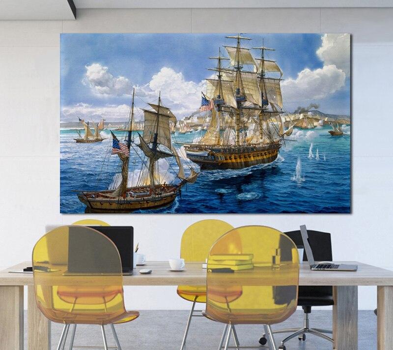 картина постер корабль смешным