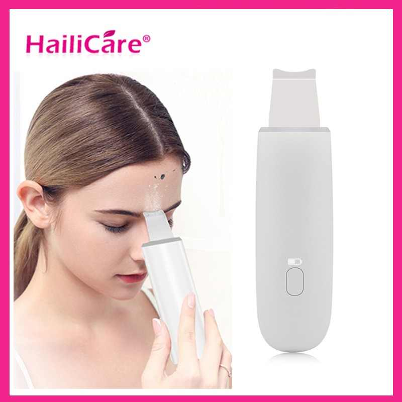 Ultrasonic Skin Scrubber Deep Cleaning Face Scrubber Vibrating Facial Cleansing Spatula Microdermal SPA Beauty Instrument Device