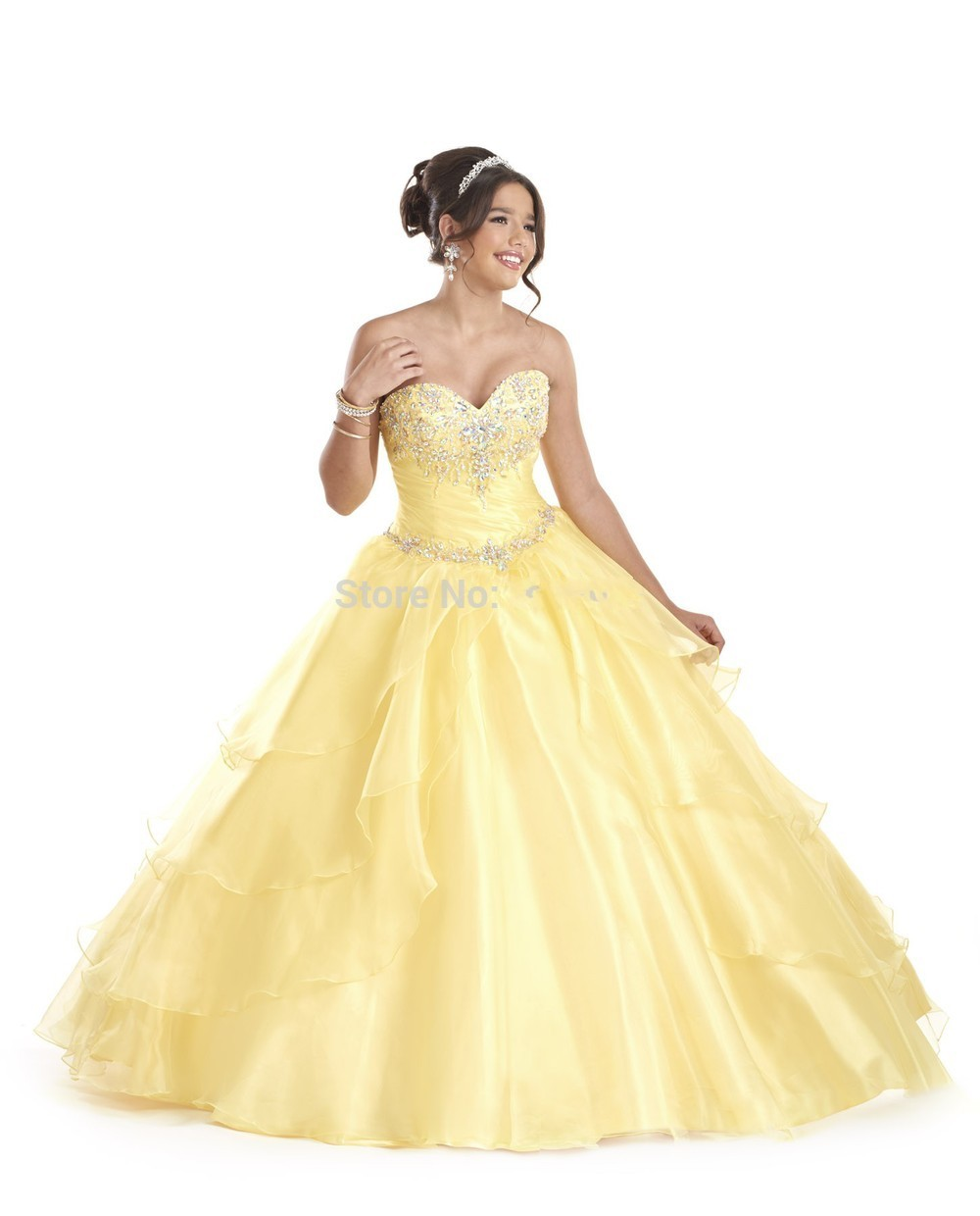 Dresses yellow for quinceaneras exclusive photo