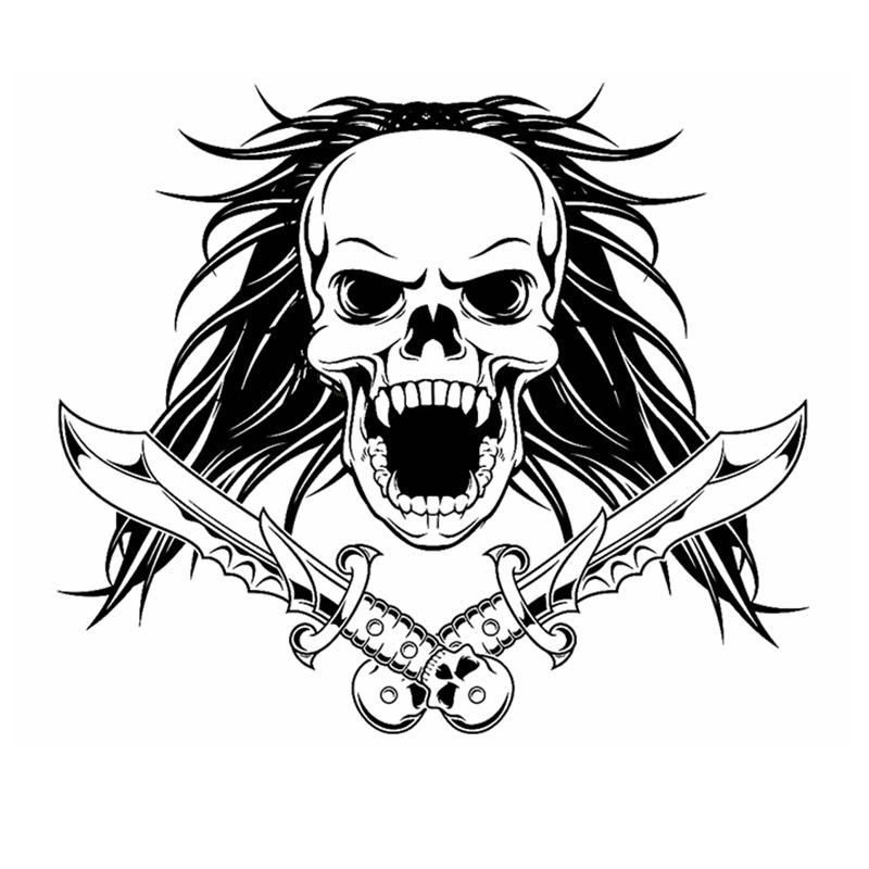 skull halloween dagger snake sticker punk death decal halloween terror devil poster name car window art wall decals decor mural - Halloween Window Decals