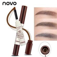 NOVO Eye Care Eyebrow Pomade Silky Chocolate Eyebrow Waterproof Gel with Soft Brush for Eyes Make Up eyebrow pencil