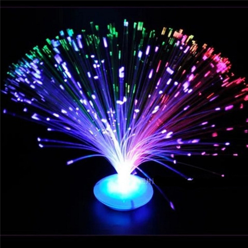 1PC Novelty Color Changing LED Fiber Optic Night Light Lamp Stand Decor Children Christmas Gift Night Lamp For Party
